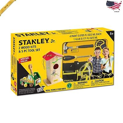 Stanley Jr. 2 Wood Kits and 5 PC Tool Set