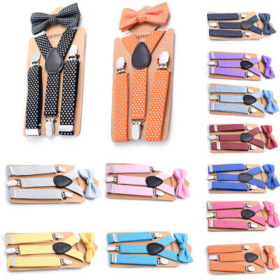 AU Stock Suspender and Bow Tie Set for Baby Toddler Kids Boys Girls Child