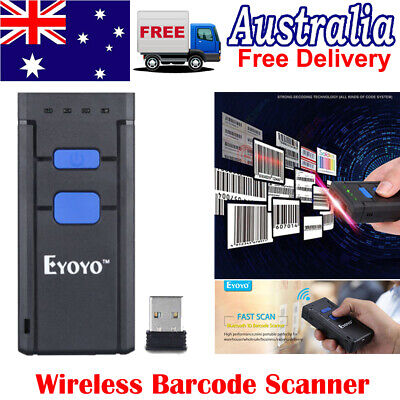 Mini Bluetooth Wireless Barcode Scanner 1D Reader For iPhone Android Window AU