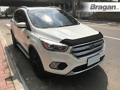 Bonnet Guard For Ford Kuga 2016+ Smoked Tinted Hardened Acrylic Hood Deflector