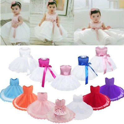 Toddler Baby Girls Princess Dress Flower Party Wedding Bridesmaid Tutu Dresses