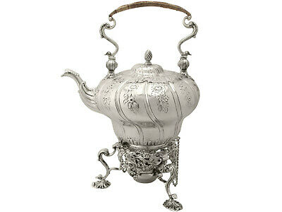 Antique Sterling Silver Spirit Kettle by William Grundy - George III