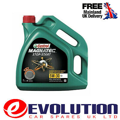 Castrol Magnatec Stop Start 5W-30 C3 4L Fully Synthetic Car Engine Oil