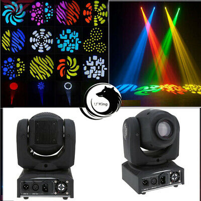50W RGBW LED Moving Head Stage Lighting DMX-512 DJ Disco Party Light Lamp