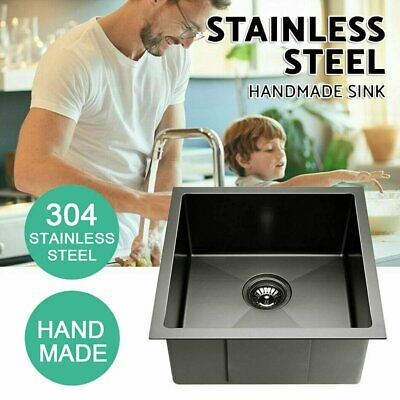 Kitchen Sink Stainless Steel Single Bowl Handmade Laundry Oil-proof 440x440mm