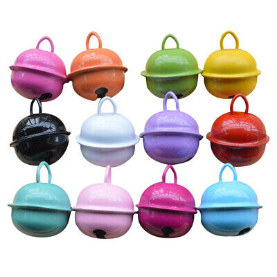 30Pc 22mm Jingle Bell Round Metal Xmas Decor Mini Bells for Handmade Accessories