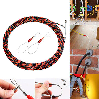 Guide Device Duct Fish Tape Set Electric Push Puller Spiral With Cable Tensioner