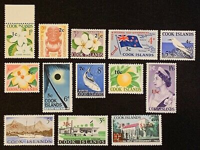 Cook Island. optd New Currency. SG205/18 1967. MNH (B386)