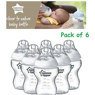 Anti-Colic Feeding Bottle Newborn Baby Tommee Tippee Soft Silicone Teat BPA Free