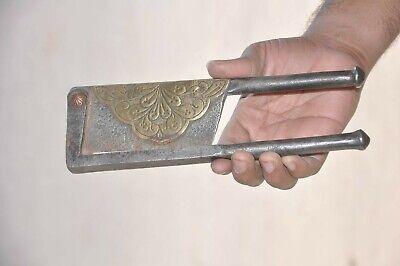 Old Iron Solid Heavy Brass Fitted Engraved Big Betel Nut Cutter