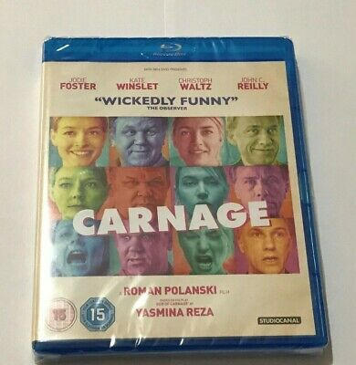 Carnage Dvd - Blu Ray - Newsealed - Jodie Foster - Kate Winslet