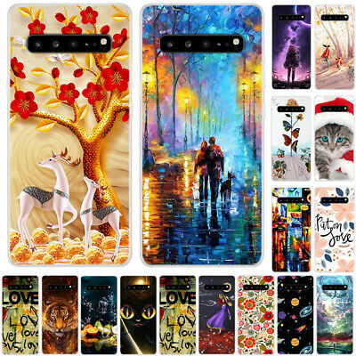 For Samsung Galaxy Note 10 S7 S8 S10 Painted Soft TPU Silicone Slim Case Cover