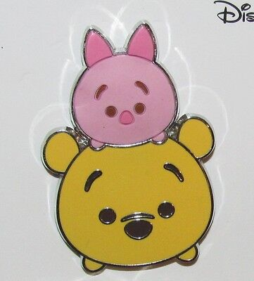 Disney Pin  100% Authentic Winnie The Pooh And Piglet Only Tsum Tsum