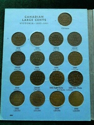 Complete Canada Large Cents Set 1858-1920 (excluding 1891 small date) (45 Coins)