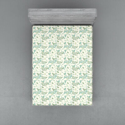 Art Nouveau Fitted Sheet Cover with All-Round Elastic Pocket in 4 Sizes