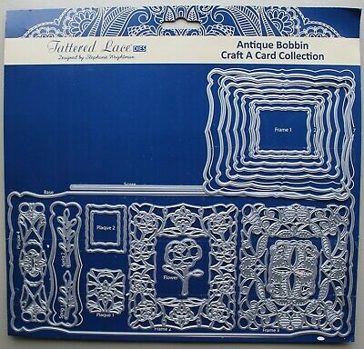 Tattered Lace Craft A Card Collection Antique Bobbin TLD0184 plus free P & P