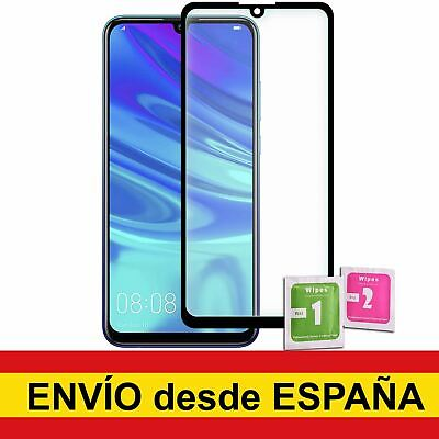 Protector Cristal Templado Para HUAWEI P SMART 2019 NEGRO Frontal Completo