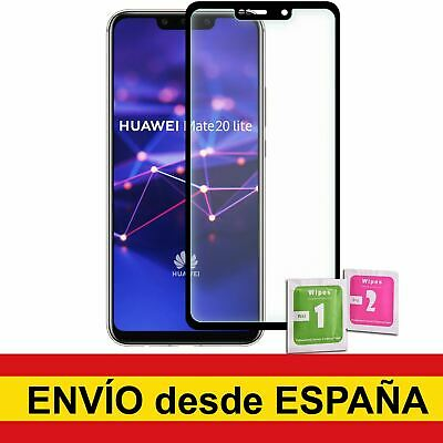 Protector Cristal Templado Para HUAWEI MATE 20 LITE NEGRO Frontal Completo
