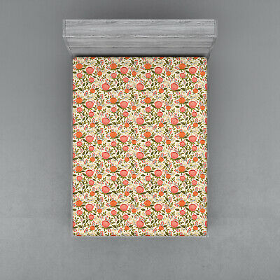Peach Color Fitted Sheet Cover with All-Round Elastic Pocket in 4 Sizes