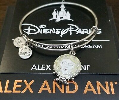 RARE Alex & Ani DISNEY MADAME LEOTA Haunted Mansion Bracelet NWOT Silver Card