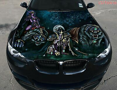 Speedometer Hood Full Color Graphics Wrap Decal Vinyl Sticker Fit any Car #033