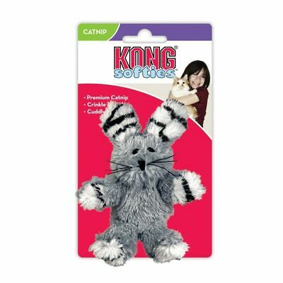 LM Kong Fuzzy Bunny Softies Cat Toy - Assorted Fuzzy Bunny - Assorted Colors