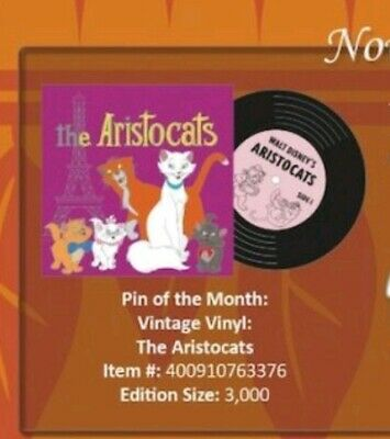 Disney Parks  Pin Vintage Vinyl - The Aristocats pin LE 3000 presale 11/7