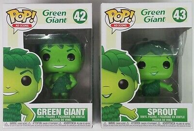 Funko POP Green Giant #42 & Sprout #43 Ad Icons Vinyl Figures