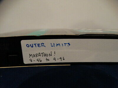 Sold As Blank VHS Tape   A OUTER LIMITS MARATHON & Commercials