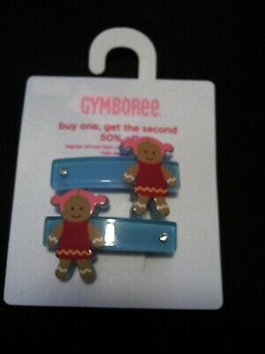 New NWT Vintage Gymboree Sugar and Spice Gingerbread Girl Hair Snap Clips HTF