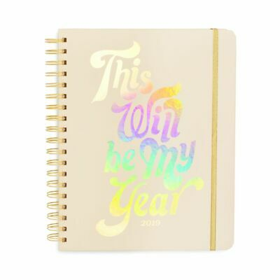 Ban.do Large 2019 12-Month Annual Hardcover Planner with Daily, Weekly, Month...