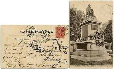 GB SCOTLAND POSTAGE DUE PPC from FRANCE LIABLE to LETTER RATE