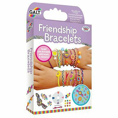 Kids Friendship Bracelets Making Diy Thread Beads Ribbon Craft Braiding Whee Kit