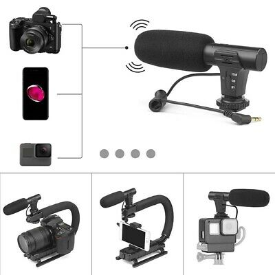 Interview Video Recording Camera Condenser Microphone For DSLR Camera 3.5mm RODE