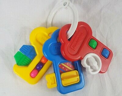 Vintage 1994 Fisher Price Activity Keys Key Baby Toy Rattle Spinner Teether
