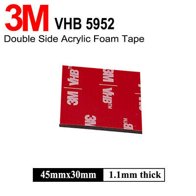 3M VHB 45mm x 30mm Pad Self Adhesive Sticker Dash Cam Double Sided Attachment
