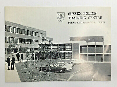 Sussex POLICE Training Centre Police Headquarters Lewes Information Brochure