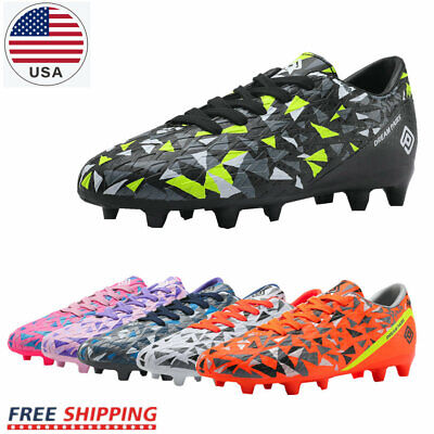 DREAM PAIRS Mens JR Kids Boys Girls Soccer Cleats Shoes Outdoor Sports Football