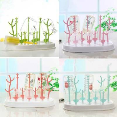 Tree Branch Shape Baby Bottle Drying Rack Detachable Bottles Drain Rack Tool AU