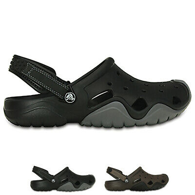 Mens Crocs Swiftwater Clog Rubber Lightweight Summer Holiday Sandals UK 6-14