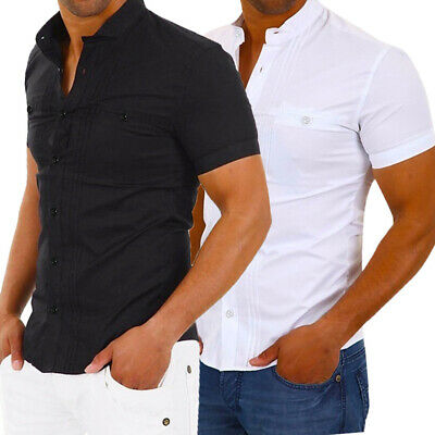 Fashion Men's Slim Fit V Neck Short Sleeve Muscle Tee T-shirt Summer Tops Blouse