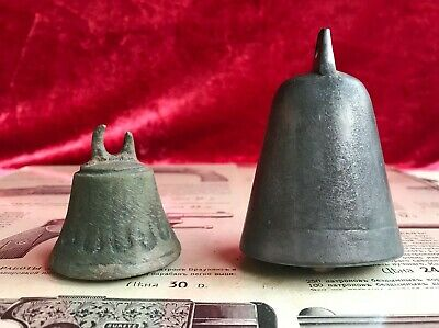 2 bell bronze different patterns Kievska Rus Vikings 9 -11 century
