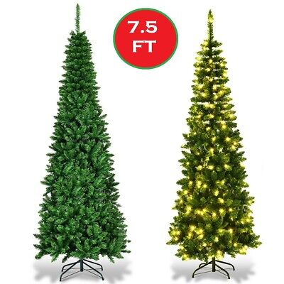 Finley Home 7 5 Classic Pine Clear Pre Lit Slim Christmas