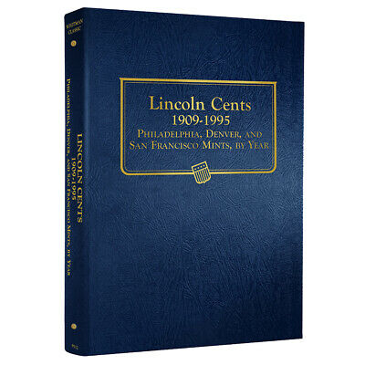 Lincoln Cents Coin Album Collection Folder 1909-1995 By Whitman 9112 Storage NEW
