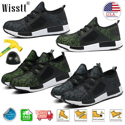 Mens Steel Toe Indestructible Lightweight Work Shoes Military Construction Boots
