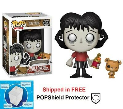 Includes Pop Box Protector Case Wilson with Chester Vinyl Figure Funko Pop /& Buddy Games Dont Starve