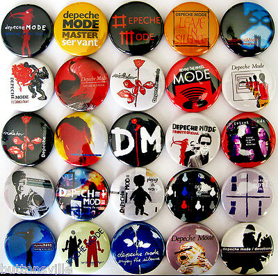 DEPECHE MODE Pins Button Badges Songs of Faith and Devotion New Wave Lot of 25