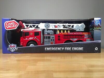 Chad Valley Emergency Fire Engine - 62cm - Lights - Sounds - Shoots Water.