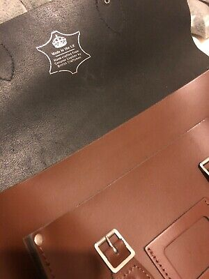 The Leather Satchel Company 14-inch Genuine Leather Bag Rrp £120