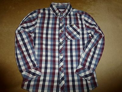 Boys brushed cotton check shirt, size 8-9 years